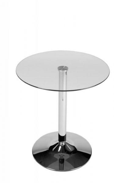 Glastisch 70 cm, klarglas | Wohnzimmer > Tische > Glastische | Klarglas | CLP