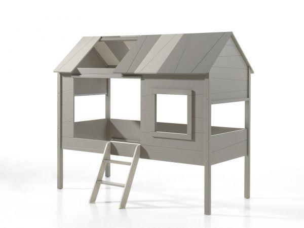 charlotte baumhaus bett 90 x 200 cm liegefl che grau ordern dito24. Black Bedroom Furniture Sets. Home Design Ideas